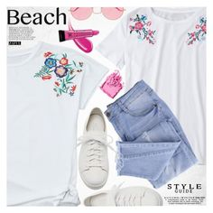 """Street style"" by vanjazivadinovic ❤ liked on Polyvore featuring Santoni, Ray-Ban, Essie, Avon, Bobbi Brown Cosmetics, beachday, polyvoreeditorial and zaful"
