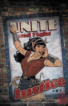 Justice League #3 Bombshell variant; Wonder Woman.