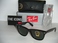 ray bands sun glasses  Ray Ban RB2140 Wayfarer Sunglasses Top Black on Transparent Azure ...
