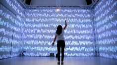 Noisy Skeleton is an immersive installation exploring the links between sound, space and artificial intelligence. Interactive Installation, Interactive Map, Installation Art, Body Gestures, Creators Project, Projection Mapping, Museum Exhibition, Art And Technology, Augmented Reality