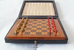 ideal gift #antique #retro travelling chess set in fitted case by #jaques london,  View more on the LINK: 	http://www.zeppy.io/product/gb/2/262357175903/