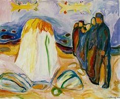 Edvard Munch, Meeting, 1921, Expressionismus in Deutschland