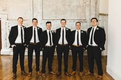 CHEERS TO US BABE – A BEAUTIFUL BEST DAY EVER AT 701 WHALEY - Black suits and brown shoes - Groomsmen