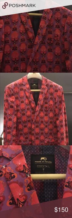 Moods of Norway This is a cocktail jacket from Moods of Norway came from the Los Angeles store this jacket was over $800 talk about a jacket that make you stand out from the crowd and well taken care of non-smoker no pets never been worn Moods of Norway Jackets & Coats Lightweight & Shirt Jackets