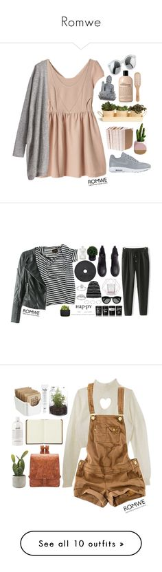 """Romwe"" by credentovideos ❤ liked on Polyvore featuring Lucky Brand, Garden Trading, Universal Lighting and Decor, NIKE, philosophy, Philip Kingsley, women's clothing, women, female and woman"