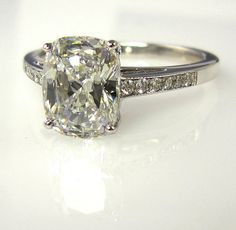 reserved...1.79ct Estate Vintage CUSHION Cut by TreasurlybyDima, $5,995.00