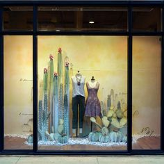 We've long admired the humble cactus. Strong, resilient and unassuming, this spiny desert dweller is far from a delicate flower—and yet when it blooms, it blooms with the best of them. From towering saguaros to petite prickly pears, our display team handcrafted a gorgeous assortment of cacti for our fall 2016 windows. Stop by your … More