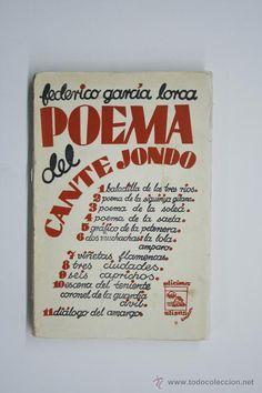 Federico Garcia Lorca. Poema del Cante Jondo. Madrid 1931. Primera edición.