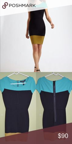 BCBG Maxazria colorblock dress Never worn BCBGMaxAzria Dresses Mini