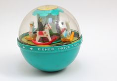 Vintage Fisher Price Roly Poly Chime Ball 1972