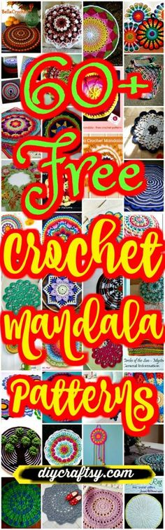 Crochet Squares Design Free Crochet Mandala Patterns - We are sharing here 60 free crochet mandala patterns that different from each other in style, geometric patterns and in color schemes! All would be a big Crochet Mandala Pattern, Crochet Motifs, Granny Square Crochet Pattern, Crochet Squares, Crochet Doilies, Crochet Flowers, Crochet Stitches, Granny Squares, Crochet Afghans