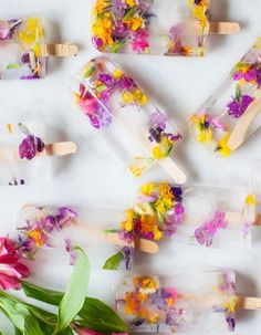 18 Gorgeous Popsicle Ideas For Your Summer Wedding | Floral Popsicles #summerwedding; #summer; #weddings; #dessert