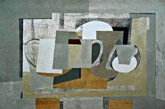 Ben Nicholson - Still Life 1936 Still Life Artists, Collage, Paintings I Love, Vanitas, Contemporary Paintings, Contemporary Decor, Painting & Drawing, Modern Art, Picasso