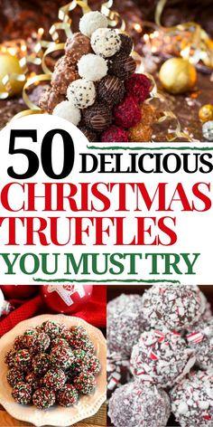 Christmas Truffles, Christmas Food Gifts, Holiday Snacks, Xmas Food, Christmas Sweets, Christmas Cooking, Christmas Candy, Homemade Christmas, Christmas Recipes