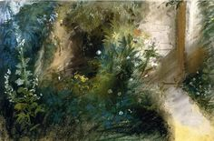 "Eugene Delacroix. ""Road in a garden of Augerville"" 1853"