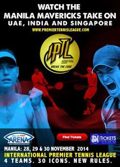 Watch Maria Sharapova, Andy Murray, Serena Williams, and many more world-renowned tennis players at the International Premiere Tennis League,