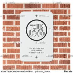 Make Your Own Personalized Business Logo Metal Sign Business Products, Business Names, Make Your Own, Make It Yourself, How To Make, Parking Signs, Brick Design, Letterhead, Novelty Gifts