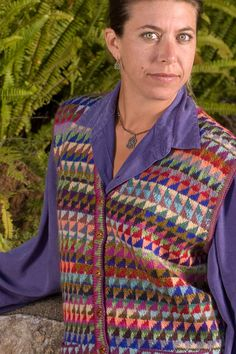 Kaffe Fasset Design - My mother knit this vest in shades of blue. http://ep.yimg.com/ca/I/yhst-27537725728262_2209_4697220