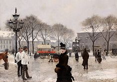 Paul Fischer -A Winters Day on Kongens Nytorv Copenhagen - 1888