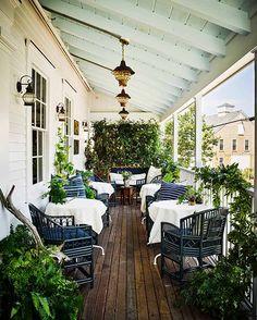 Like the lights and plantings on the deck of Greydon House, Nantucket Hotel
