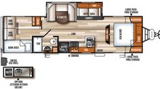 U DINETTE & XTRA BUNK!   Vibe Extreme Lite Travel Trailers by Forest River RV 287qbs