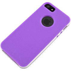 TPU Skin & Bumper for Apple #iPhone 5, Purple/White $14.99 From #DayDeal