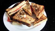 Home made bread, cheese and tomato toastie. It doesn`t have to be complicated.!