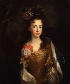 Princess Louisa Maria Theresa Stuart attributed to Alexis Simon Belle oil on canvas, circa 1702-1706