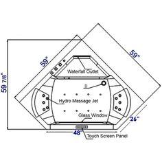 corner bathtubs dimensions American Acrylic Corner Oval
