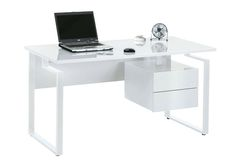 White Gloss Computer Desk