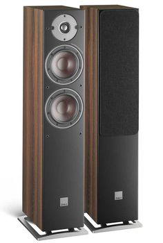 DALI Oberon 5 Floorstanding Speakers are smaller floorstanders in the Oberon range, the first entry level series to feature SMC technology with two 5.25 inch woofers and an ultra-lightweight 29mm tweeter for an outstanding performance from this elegant and compact speaker.Dark Walnut. Monitor Speakers, Diy Speakers, Bookshelf Speakers, Stereo Speakers, Wireless Speakers, Eddy Current, Floor Standing Speakers, Complimentary Colors, Hifi Audio