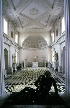 Robert Adam. Entrance Hall, Syon House. Middlesex, England 1762-63 #architecture