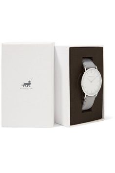Larsson & Jennings - Lugano Leather And Stainless Steel Watch - Light gray - one size High End Watches, Used Watches, Popular Watches, Watches For Men, Affordable Watches, Expensive Watches, Larsson & Jennings, Elegant Watches, Lugano
