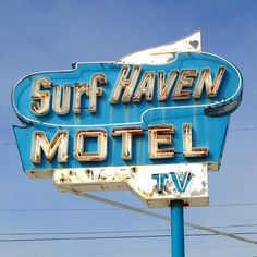 Stunning Surf Haven Motel in Wildwood, NJ. Seems right out of central casting for mid-century summer beach holiday! #just_newjersey #jersey #signgeeksGTL #signgeeksgonewild #wildwood #wildwoodnj #jerseyshore #beach #cheap_cheesy_motels #RSA_Main #rsa_mycity #rsa_street view