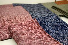 Japanese furoshiki traditional patterns.