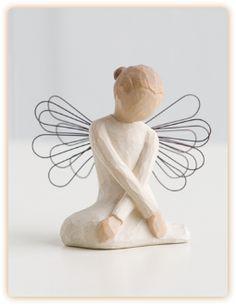 Willow Tree Figurine - Serenity - Brand New in Box Willow Tree Statues, Willow Figurines, Willow Tree Engel, Willow Tree Figuren, Sculpture, Collectible Figurines, Cherub, Serenity, Beautiful