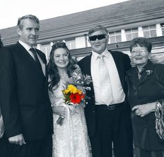 Our wedding, with Ma and Pa