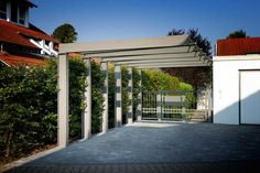 Carport When ancient throughout idea, your pergola have been experiencing a contemporary rebirth these Carport Garage, Pergola Carport, Pergola Swing, Pergola With Roof, Covered Pergola, Pergola Shade, Patio Roof, Pergola Patio, Pergola Kits