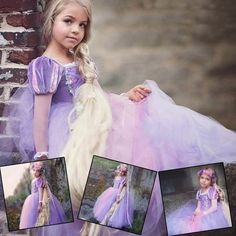Buy Princess Cinderella Sofia Rapunzel Dresses Full Ball Gown Long Party Dress Kids Cosplay Christmas Halloween Costume Masquerade at Wish - Shopping Made Fun Summer Wedding Outfits, Blue Wedding Dresses, Princess Wedding Dresses, Flower Girl Dresses, Trendy Wedding, Sister Wedding Pictures, White Tent Wedding, Rapunzel Dress, Curvy Dress
