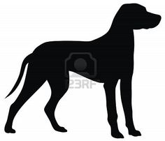 Abstract vector illustration of hunting dog silhouette Stock Photo