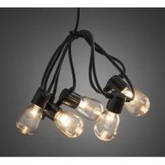 Clear LED Festoon Lights 20 E14 Pygmy Bulbs Warm White