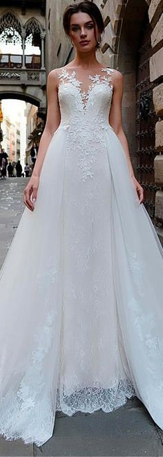 72 best 2 In 1 Wedding Dresses images on Pinterest in 2018 | 2 in 1 ...