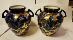 Pair of Thomas Forester Pheonix Ware Flow Blue