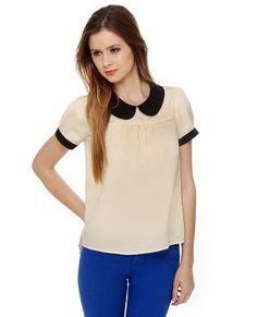 Babydoll-ed Up Short Sleeve Cream Top