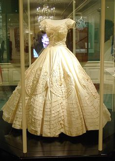 Jacqueline Bouvier's wedding dress.  The wedding dress was designed and made by African-American dressmaker Ann Lowe.