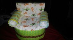 Monkey Theme Diaper Chair $25.00 Includes 60 Diapers