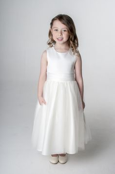 Ivory Sash Dress Bridesmaid Flower Girl Party. available in other colours, please see our website. UK supplier ships worldwide.
