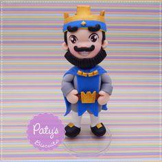 Miniatura Rei Azul - Clash Royale - Festa Infantil - Paty's Biscuit