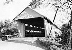 Potters Bridge, Hamilton County, Indiana :: Holmes, Alvin W. Covered Bridge Photographs (new)
