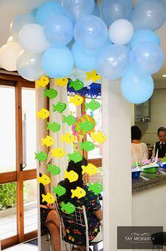 Festa fundo do mar - decoração